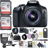 Canon Rebel T6 DSLR Camera & 18-55mm Lens Pro Photog Kit