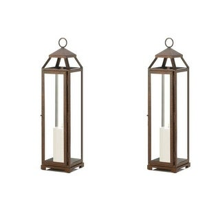 Set of 2 Extra Tall Copper Lanterns