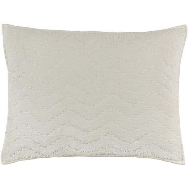 "36"" Marshmallow White Cotton Festive Nights Decorative Elegant King Sham"