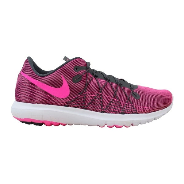 3f960e547fb1c Shop Nike Flex Fury 2 Dark Grey Pink Blast-White Women s 819135-007 ...