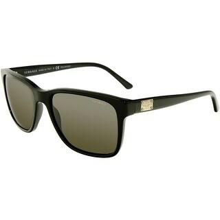 Versace Men's Polarized VE4249-GB1/81-58 Black Rectangle Sunglasses