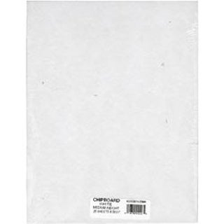 "White - Medium Weight Chipboard Sheets 8.5""X11"" 25/Pkg"