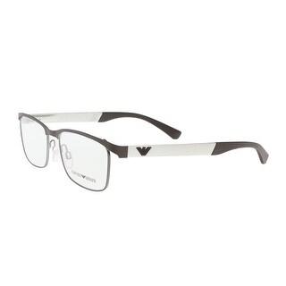 Emporio Armani EA1057 3161 Matte Brown/Silver Rectangle Optical Frames - 52-17-140