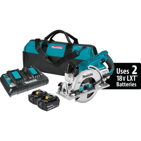 Makita XSR01PT Cordless Brushless Rear Handle Circular Saw Kit, 5,100 rpm