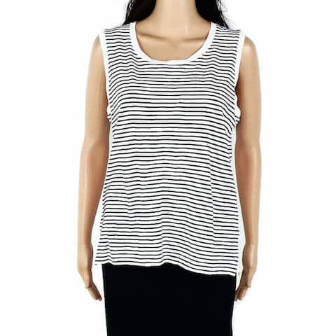 Madewell Womens Blouse Blue Size Medium M Whisper Stripe Muscle Tank