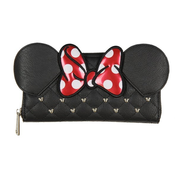 Loungefly Disney Minnie Mouse Ears & Bow Zip Around Wallet - One Size Fits most
