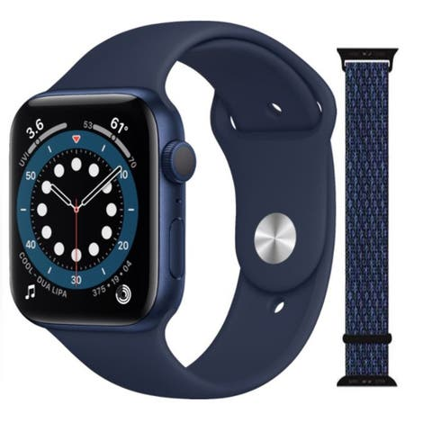 Apple Watch Series 6 44mm GPS (Latest Model) Blue with Extra Band