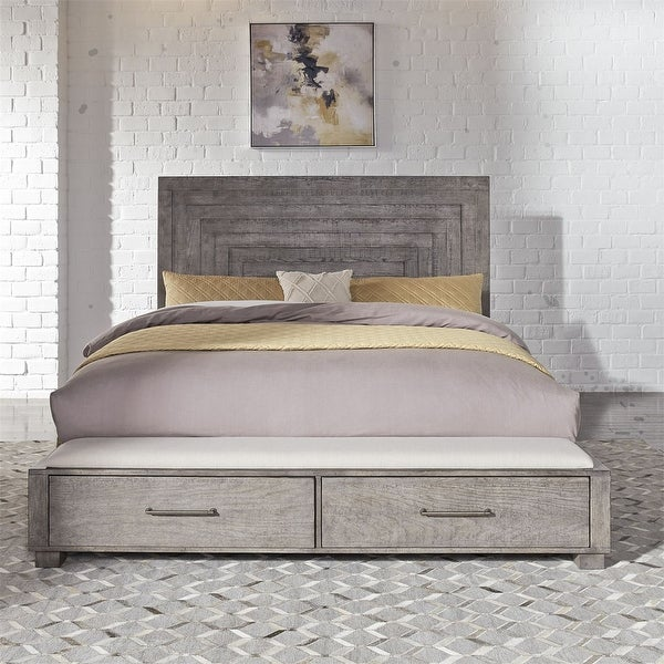 Modern Farmhouse Dusty Charcoal King Storage Bed Overstock Com Shopping The Best Deals On Beds 33169469