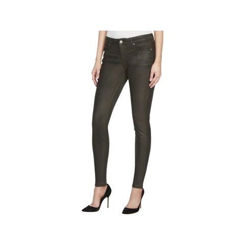 William Rast Womens Skinny Pants Faux Suede Flat Front