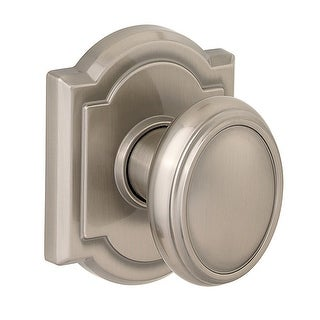 Baldwin 352CYK-ARB  Carnaby Style Passage Knobset with Arched Rosette from the Prestige Collection - Satin Nickel