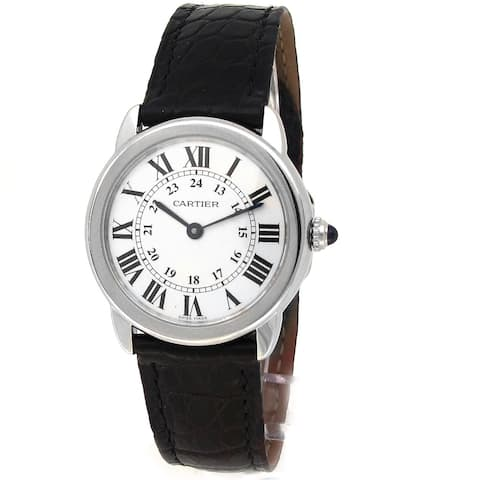 Pre-owned 29mm Cartier Ronde Solo Watch - One Size