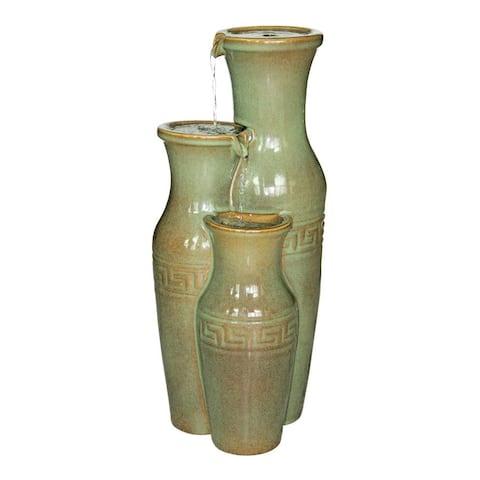 Design Toscano Ceramic Grecian Jars Garden Fountain