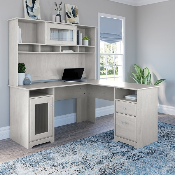 Copper Grove Daintree L-shaped Desk with Hutch. Opens flyout.