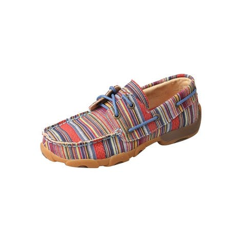 Twisted X Casual Shoes Kids Boat Shoe Stripe Canvas Multi