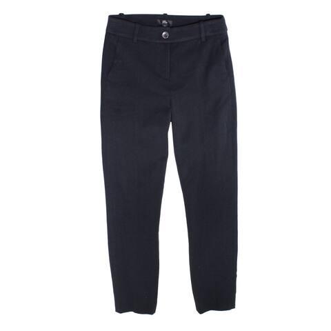 J. Crew Womens Pants Jet Black Size 00 Slim Leg Welt-Pockets Stretch