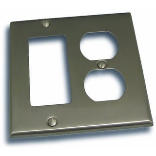 """Residential Essentials 10826 4.5"""" X 4.5"""" Double Rocker and Outlet Switch Plate Featuring a Rustic / Country Theme"""