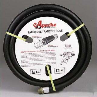 """Apache 3-FT1212S Farm Fuel Transfer Hose, 3/4""""x12'"""