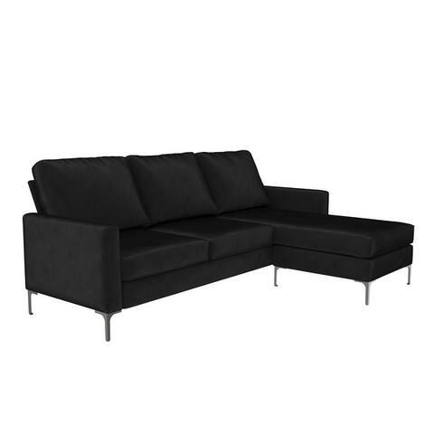 Novogratz Chapman Sectional Sofa with Chrome Legs