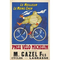 France Pneu Velo michelin O'Galop 1912 Vintage Ad (Art Print - Multiple Sizes)