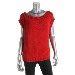 LRL Lauren Jeans Co. Womens Tank Top Sweater Knit Textured