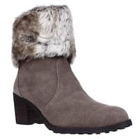 Aerosoles Incognito Faux Fur Cuff Winter Ankle Boots, Taupe