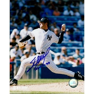 Signed Hitchcock Sterling New York Yankees 8x10 Photo autographed