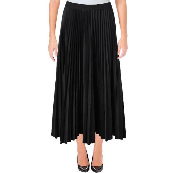 bae00f5400d8 Shop Theory Womens Dorothea Maxi Skirt Pleated Sateen - 4 - Free ...