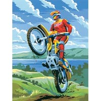 """Motocross - Junior Small Paint By Number Kit 8.75""""X11.75"""""""