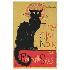 ''Tournee du Chat Noir'' by Theophile Alexandre Steinlen Animals Art Print (36 x 24 in.)