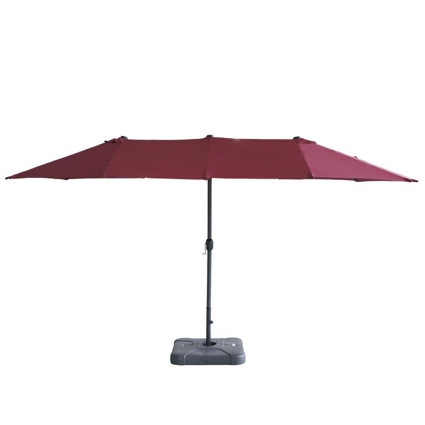 15Ft Large Patio Umbrella Garden Yard Market Sunshade Outdoor Wine Red. Opens flyout.