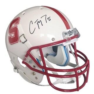 Christian McCaffrey Signed Stanford Full Size Schutt Replica Helmet JSA
