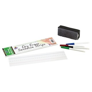Pacon Dry Erase Sentence Strips, 3 x 12 Inches, White, Pack of 30