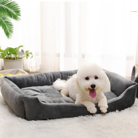 "38"" Wadding Bed Pad Mat Cushion for Dog Cat Pet Gray - 38"""