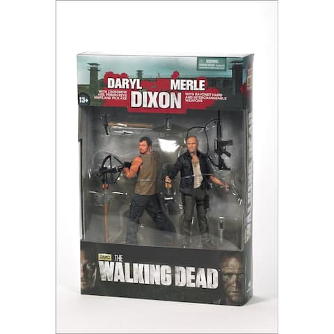 "The Walking Dead TV Series 4 5"" Action Figure 2-Pack: Merle and Daryl Dixon"