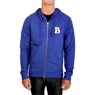 "Pierre Balmain Men's ""Le Rock Parisien"" Zip-up Hoodie Jacket Blue"