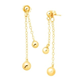 Just Gold Ball Drop Earrings in 10K Gold - YELLOW