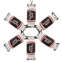 "4"" Tootsie Roll Original Chewy Chocolate Candy Christmas Snowflake Ornament - brown"