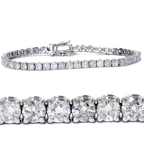7ct Diamond Tennis Bracelet 14K White Gold