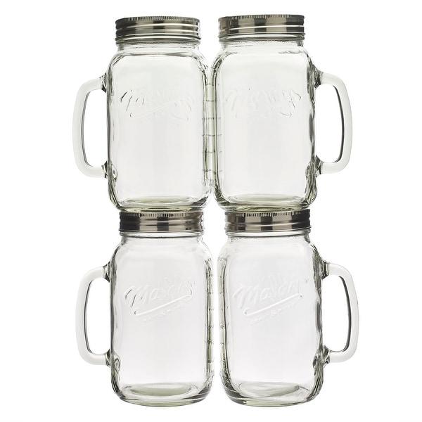 Mason Craft & More 4PC 32oz Glass Jar with Handle