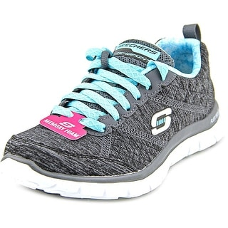 Skechers Flex Appeal Pretty City Round Toe Canvas Sneakers
