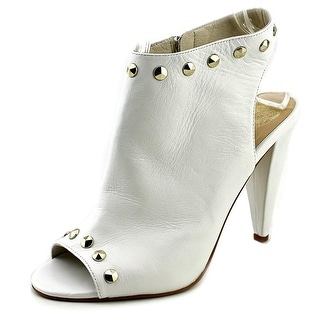 Vince Camuto Abbia Women Peep-Toe Leather Yellow Bootie