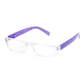 Evolutioneyes E-Specs +0.50 Clear with Purple Temples Computer Readers