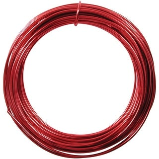 Aluminum Wire 12 Gauge 39' Coil-Red