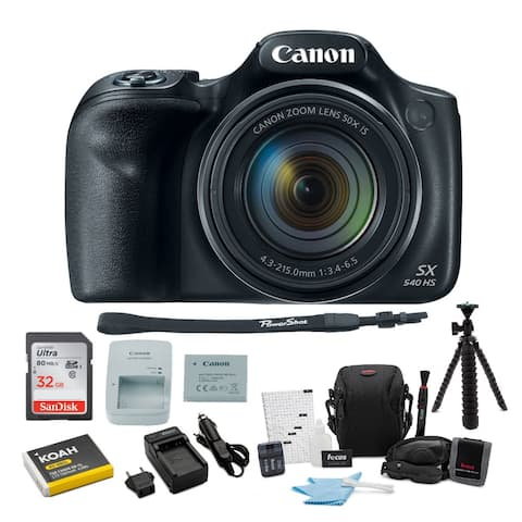 Canon PowerShot SX540 HS Digital Camera with 32GB SD Card Bundle