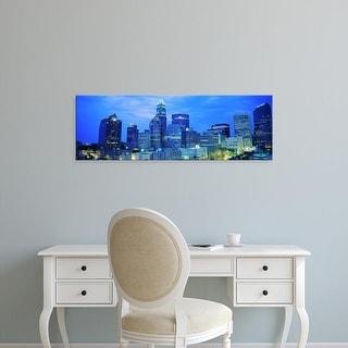 Easy Art Prints Panoramic Images's 'Charlotte, North Carolina, USA' Premium Canvas Art