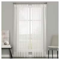 Curtainworks Soho Voile Pinch Pleat Curtain Panel - Oyster