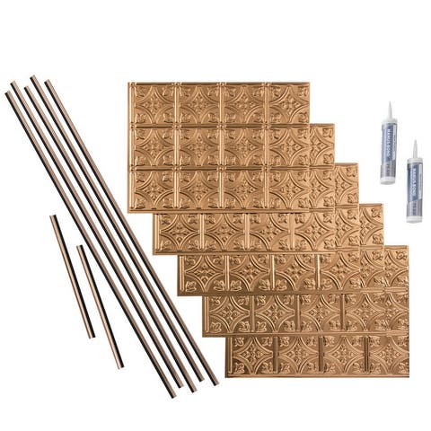 Fasade Traditional Style #1 Polished Copper 15-square Foot Backsplash Kit