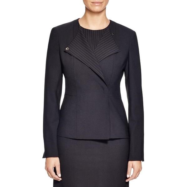 bc9d3fbeb Shop BOSS Hugo Boss Womens Jutali Blazer Snap Closure Wool - Free Shipping  Today - Overstock - 15286924