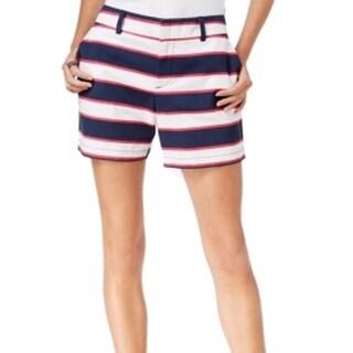 Tommy Hilfiger NEW Blue White Pink Women Size 14 Striped Shorts
