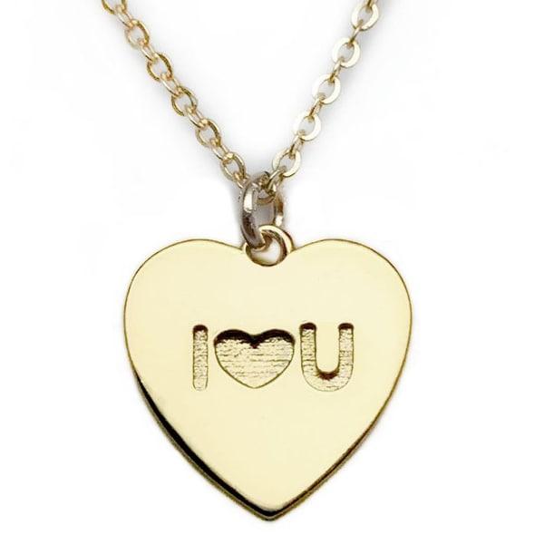 "Julieta Jewelry I heart U Heart Charm Gold 16"" Necklace"